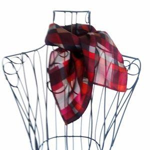 Kenneth Cole 100% Silk Multi Color Sheer Scarf USA